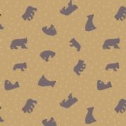 Lewis & Irene - Bear Hug - 6191 - Scattered Bears on Tan  - A314.3 - Cotton Fabric